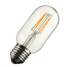 Buy Warm White E27/E26 T45 4W 240Lumen COB Retro Vintage Edison Lamp Filament Tubular Light Bulb Dimmable AC110/220V for $3.87 in AliExpress store