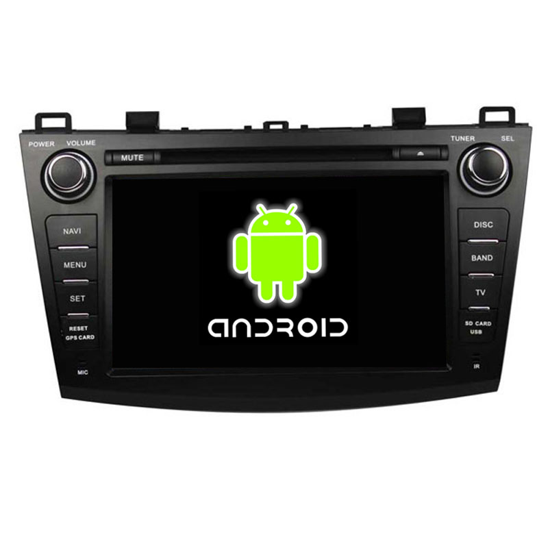 "ROM 16G Quad Core 1024*600 Android 5.1.1 Fit Mazda 3 2009 2010 2011 2012 8"" Car DVD Player GPS TV 3G Radio Navigation(China (Mainland))"