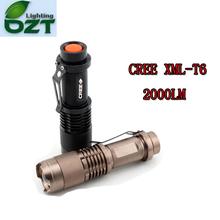 CREE XM-L T6 1600Lumens Cree led Torch Zoomable Cree Waterproof LED Flashlight Torch Light(China (Mainland))