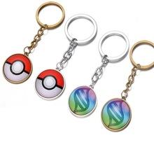 Pokemon Pokeballs Keychain 2016 New Poke Mon Pikachu Puppets Car Key Chain Ring Pendantornament Birthday Party Decoration(China (Mainland))