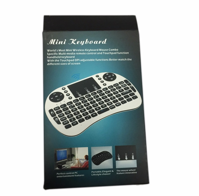 fly air mouse 2.4G wireless mini qwerty keyboard air mouse for PC Notebook android tv box smartphone wireless keyboard touchpad(China (Mainland))