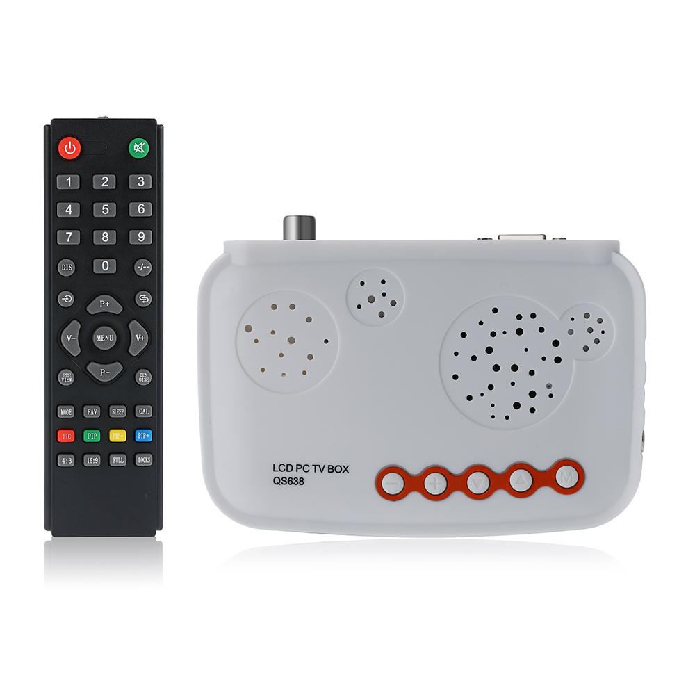 High Quality HDTV LCD TV Box / HD Analog TV Tuner Box / CRT Monitor Digital Computer TV Program Receiver(China (Mainland))