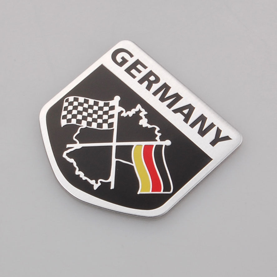 Auto Car Matel 3D Chequered Germany Flag Truck Badge Emblem Decal Fender Sticker(China (Mainland))
