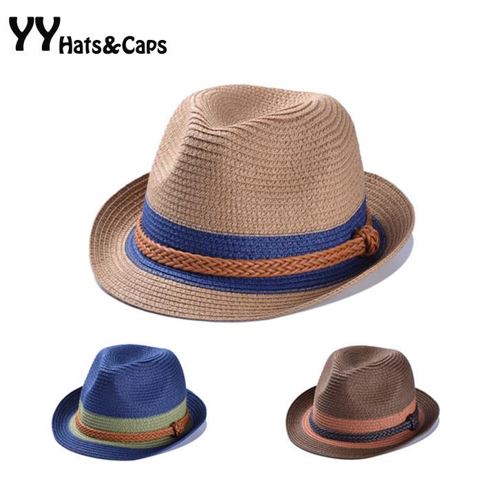 Fashion Summer Casual Straw Fedoras Unisex Beach Trilby Large Brim Jazz Sun Hat Panama Hat Paper Straw Women Men Cap YY0259(China (Mainland))