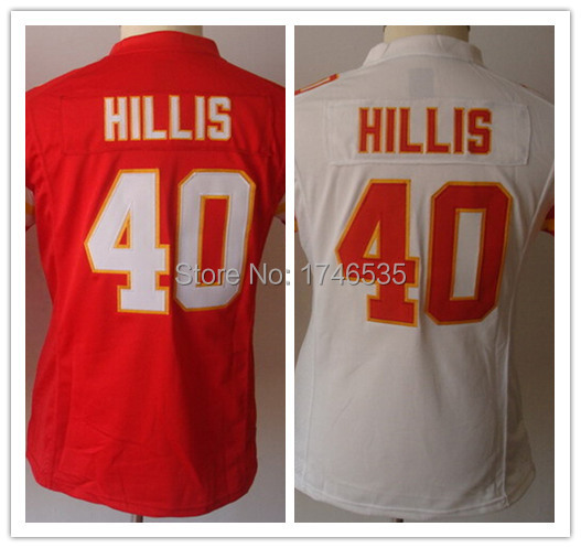 Newest 40 Peyton Hillis Jersey Cheap Women's Elite Rugby Shirt Authentic American Football Jerseys Best Quality Sewn White Red(China (Mainland))