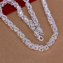 Стерлингового Серебра 925 Ювелирных Изделий на Нескольких Мячи Ожерелье Бесплатная Доставка Brand New One Пк RM164(China (Mainland))