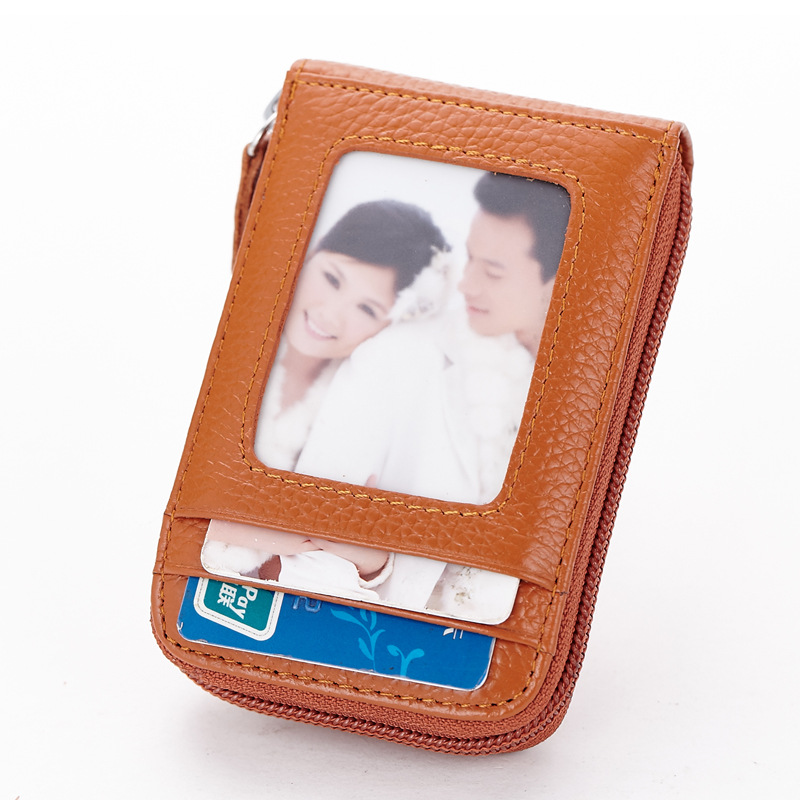 New Arrival Genuine Leather Credit Card Holder Card Wallet Purse Women Men ID Card Holder Business Protector Organizer CP-016