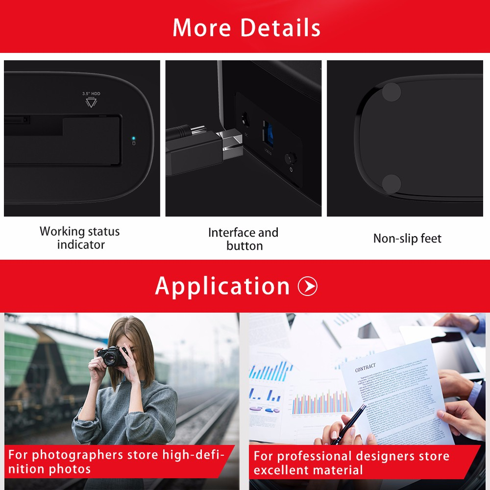 2018 Orico 6218us3 External Hdd Docking Station 5gbps Usb 30 To Dock 1 Bay Getsubject Aeproduct