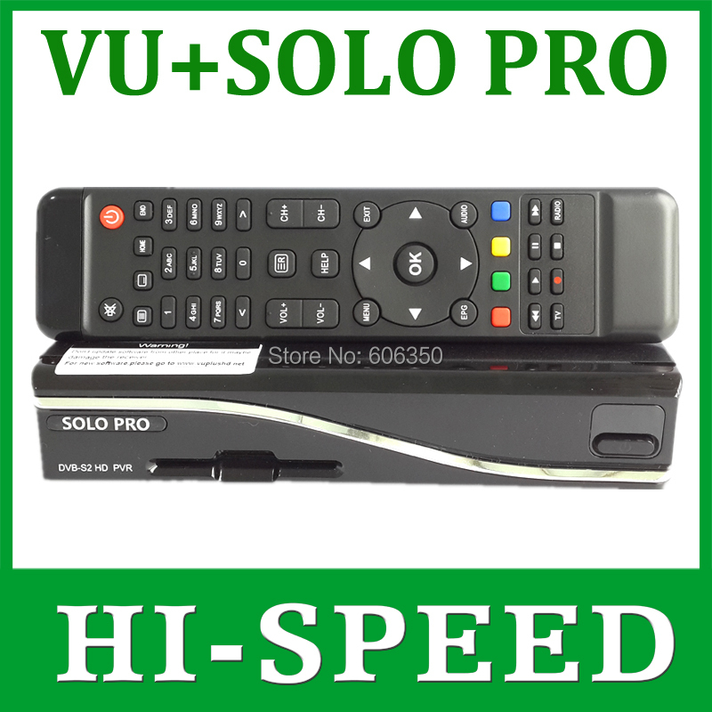 1pc Solo Pro V2 Satellite Receiver Linux System Enigma 2 Mini VU+ Solo with CA card sharing Youtube IPTV free shipping post(China (Mainland))