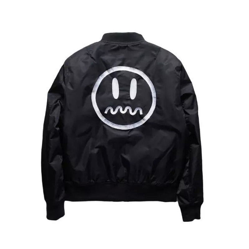 New Arrival 2016 MA1 Flight Jacket Men&amp;Women Couple Coat Thin Back Embroidery Smile Zipper Casual Black Polit Jacket XXXL SizeОдежда и ак�е��уары<br><br><br>Aliexpress