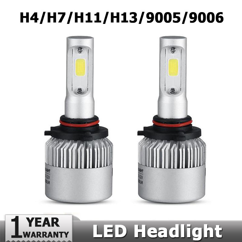 H4/H7/H11/H13/9005(HB3)/9006(HB4) COB LED Car Headlight Bulb Single/Hi-Lo Beam 8000LM 6500K DRL Auto Led Head Lamp Fog Light(China (Mainland))