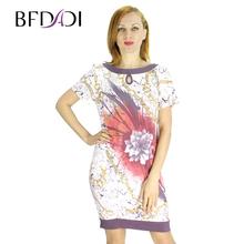 BFDADI Новые женские летние платья 2016 европейский стиль мода свободного покроя цветок печать с карманными 2172(China (Mainland))