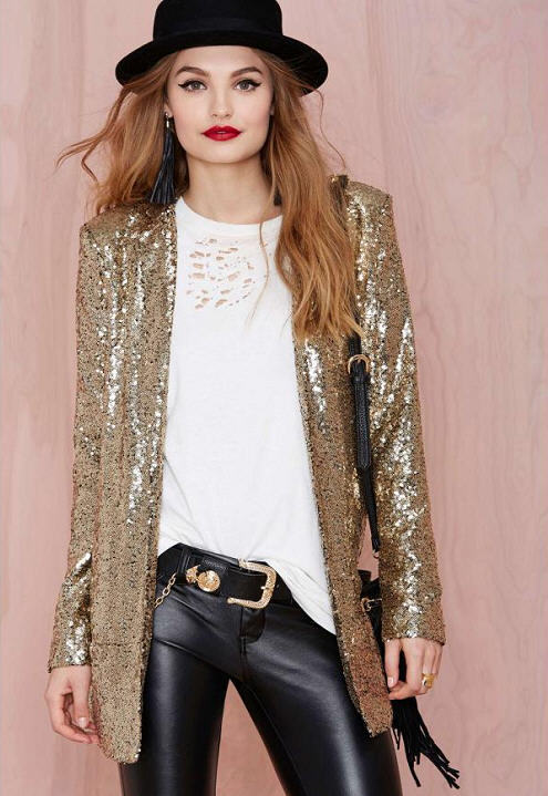 Silver Blazer Womens | Fashion Ql