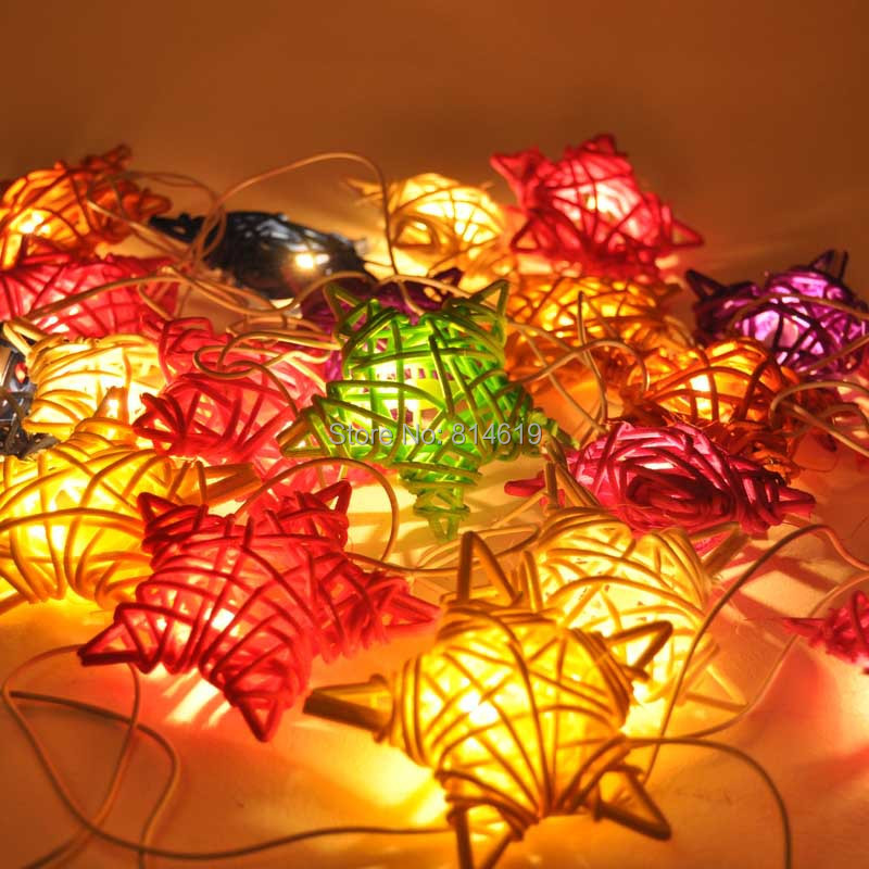 2014  handmade Rattan festival lights LED string lighting Chrismas Tree Decorate Flickering Free shipping by china post ail mail<br><br>Aliexpress