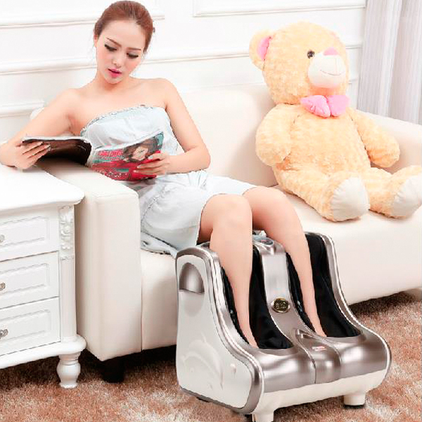 2016 New Massager Foot Shiatsu Massage Square Heated Electric Foot Massage Device Reflexology Foot Leg Machine(China (Mainland))