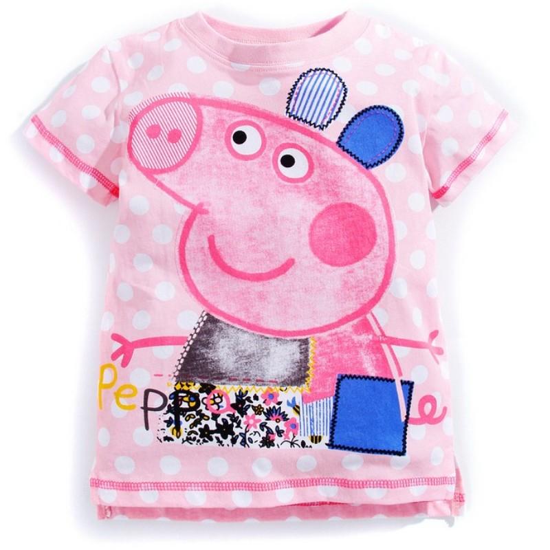 2-6 Years Baby Girl t-shirt Little Girls Tees Shirts Children Blouse big sale super 100% Cotton Kids Summer Kids Clothes