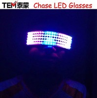 Free shipping Colorful LED Glasses Dancing Party Peoperties Stage Magic Glasses Bar Club With a variety of Patterns Program