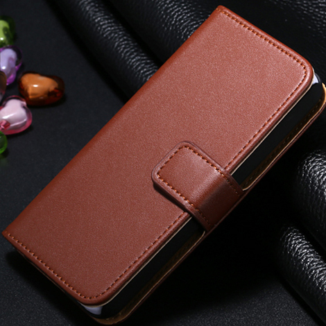 Hot On Sale! Korean Genuine Leather Case For iphone 4 4S 2 Styles Flip Up And Down & Wallet With Card Holder SGS4sLcase 01253(China (Mainland))