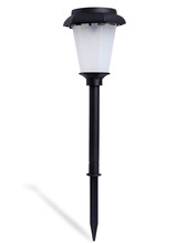 New Arrival Fashion Solar Power LED Light 3-Color Changing Garden Outdoor Landscape Stake Path Lamp free shipping(China (Mainland))