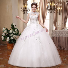 2016 New Arrival Vintage Lace Halter Crystal Pearl Beading Tassel Basque Ball Gown Wedding Dresses For Bridal Floor Length(China (Mainland))