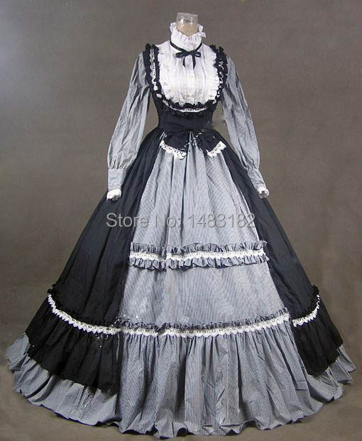 Free Shipping Victorian Gothic Lolita Dress Ball Gown Prom Steampunk Punk / Party Dresses