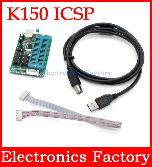 PIC USB Automatic Micro Controller Programming Develop Microcontroller Programmer K150 ICSP +Cable(China (Mainland))