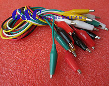 10pcs 50cm Double-ended Crocodile Clips Cable Alligator Clips testing wire(China (Mainland))