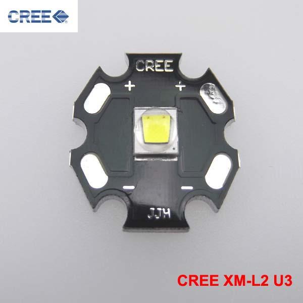 Гаджет  FREE Shipping 5pcs per lot CREE XM-L2 U3 Cool White LED Emitter with 20mm Aluminum Heating Star None Свет и освещение