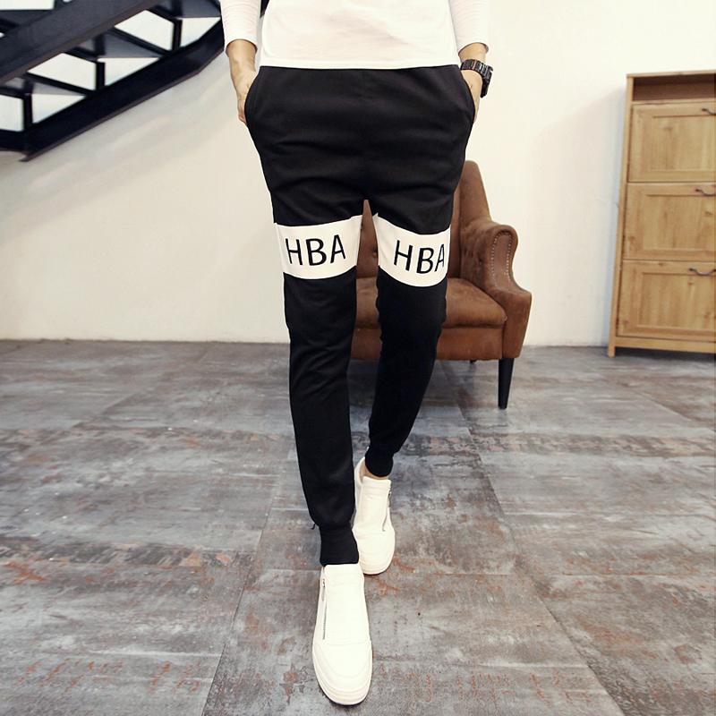 Fashion 2015 Hood By Air Hip Hop HBA Harem Pants Casual Sweatpants For Men Sport Pants Trousers Cargo Jogging Pants Mens Joggers(China (Mainland))