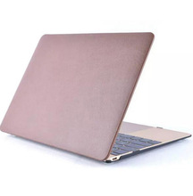 10pcs Luxury Paste Skin Leather Matte Shell Case For Apple Macbook Air Pro Retina 11.6 12 13.3 15.4 inch