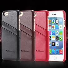 Top Quality Luxury Real Genuine Leather Case For Apple iPhone 6 Plus 5.5 inch Slim Card Slot Mobile Phone Cover For iPhone6 Plus