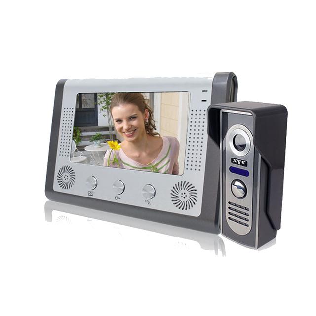 free shipping video intercom doorbell 7 Inch Video Door Phone Doorbell Intercom Kit 1-camera 1-monitor Night Vision