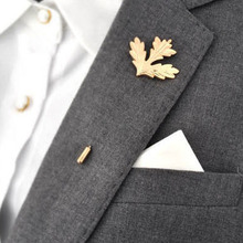 Popular Men's Corsage Boutonniere Retro Male Maple Brooch Collar Pin Brand Accessories Trendy Suits Shirts Lapel Pin Brooches