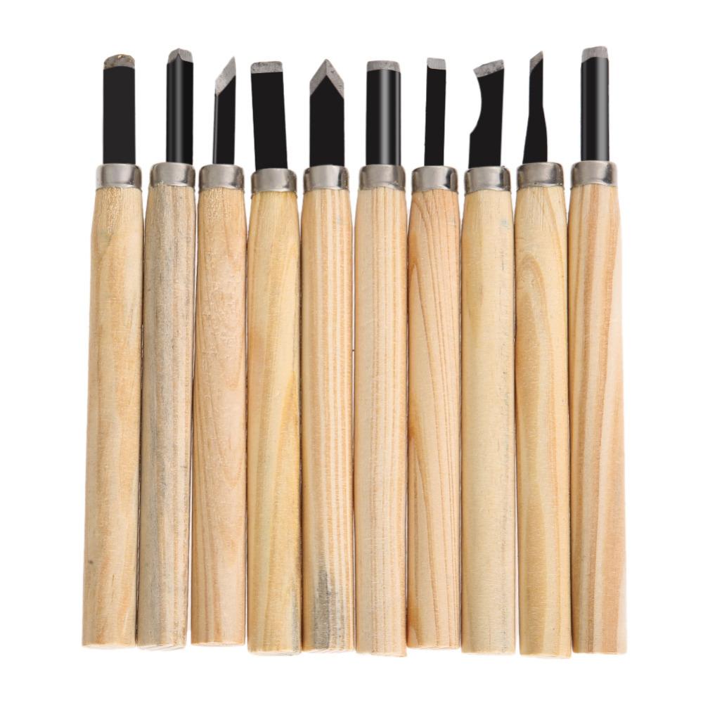 DIU# 10pcs Hand Wood Carving Chisels Knife For Basic Woodcut Working DIY Tools Free Shipping(China (Mainland))