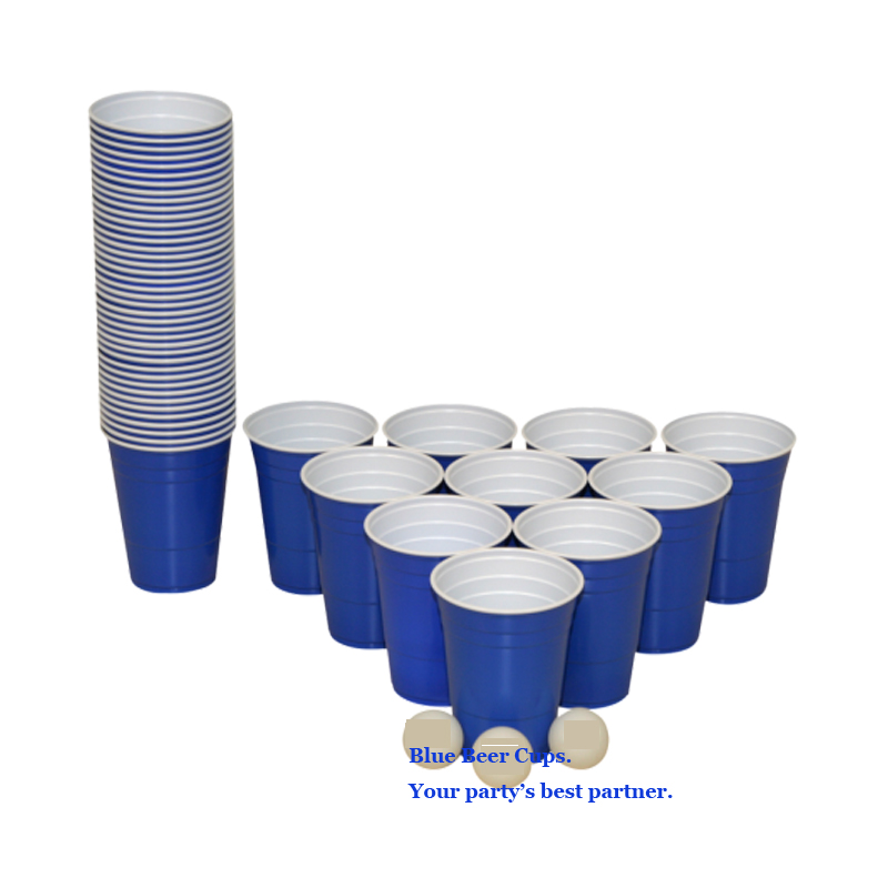 blaue becher blue solo cups 16 oz 473 ml blau 10pcs for party beer pong partybecher beer. Black Bedroom Furniture Sets. Home Design Ideas