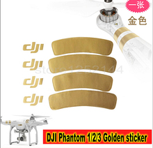 Free Shipping DJI Golden Decals/Stickers Phantom 1/2/3 Universal Housing Cover Phantom 3 Clothes (China (Mainland))