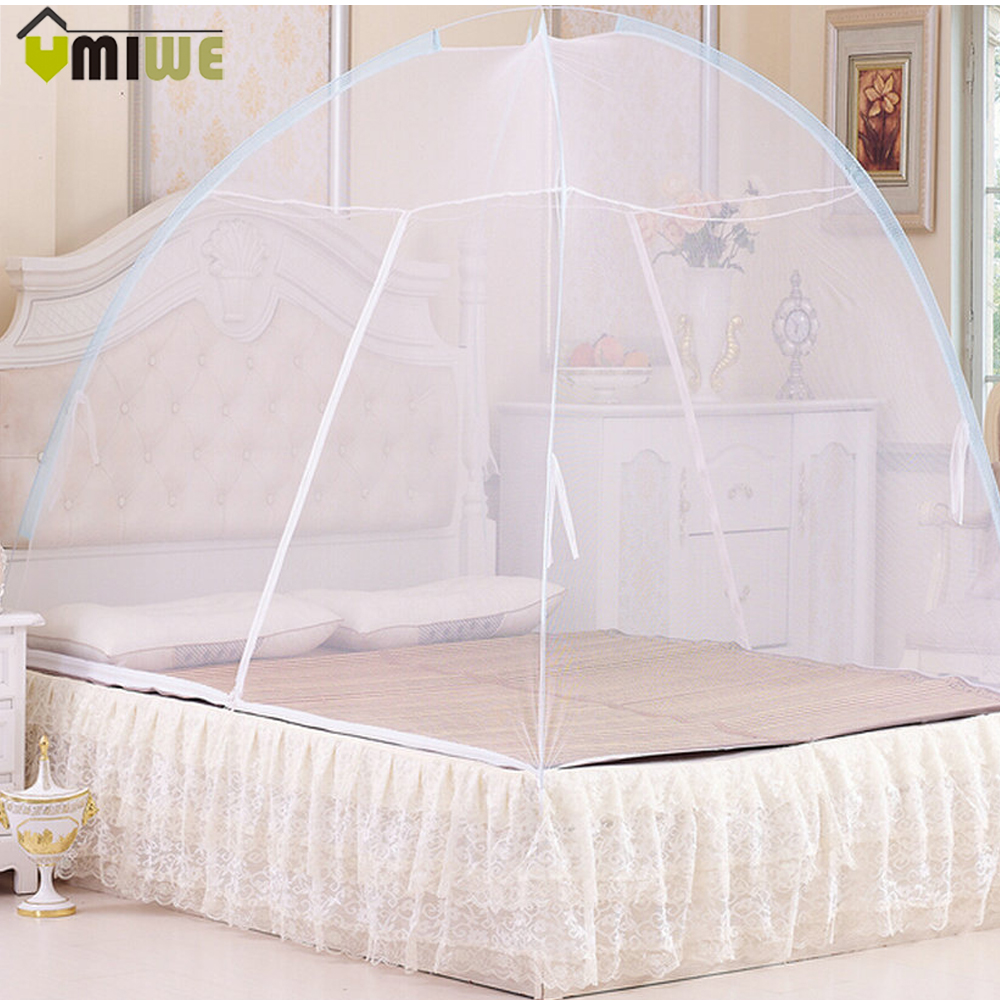 Baby bed camping - Baby Child Mesh Mosquitotent Portable Foldable Mongolian Yurt Mosquito Net Anti Insect Midges Home Camping Canopy