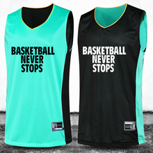 2016 New Basketball Suit Basketball Training Sets Double Sided Professional Customization Number&Logo&Name