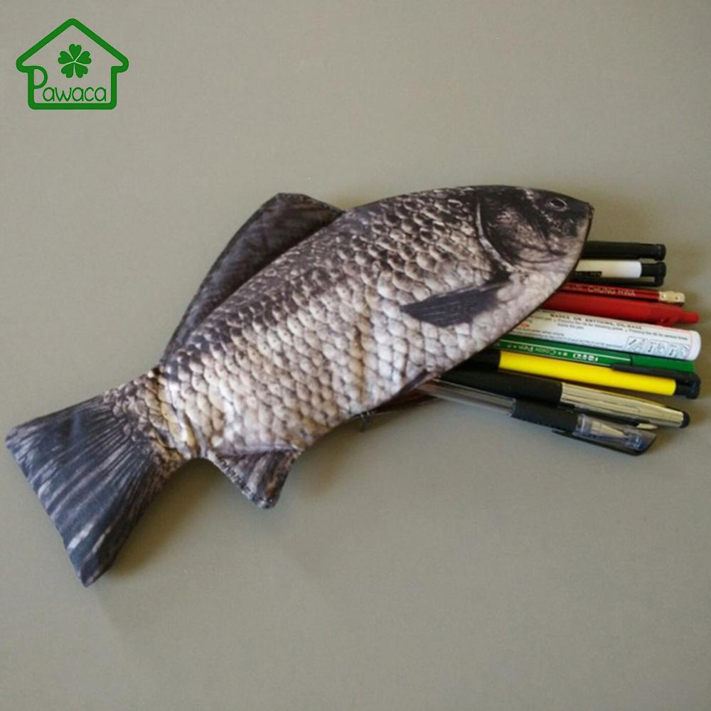 Pen desk sets promotion shop for promotional pen desk sets for Realistic fish pencil case