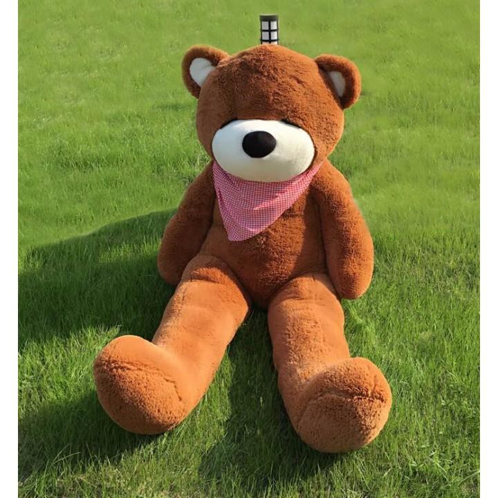 "Joyfay 71"" 180cm Brown Giant Teddy Bear 1.8m Sleepy Huge Stuffed Plush Toy Big Bear Best Gift for Birthday Valentine's Day(China (Mainland))"