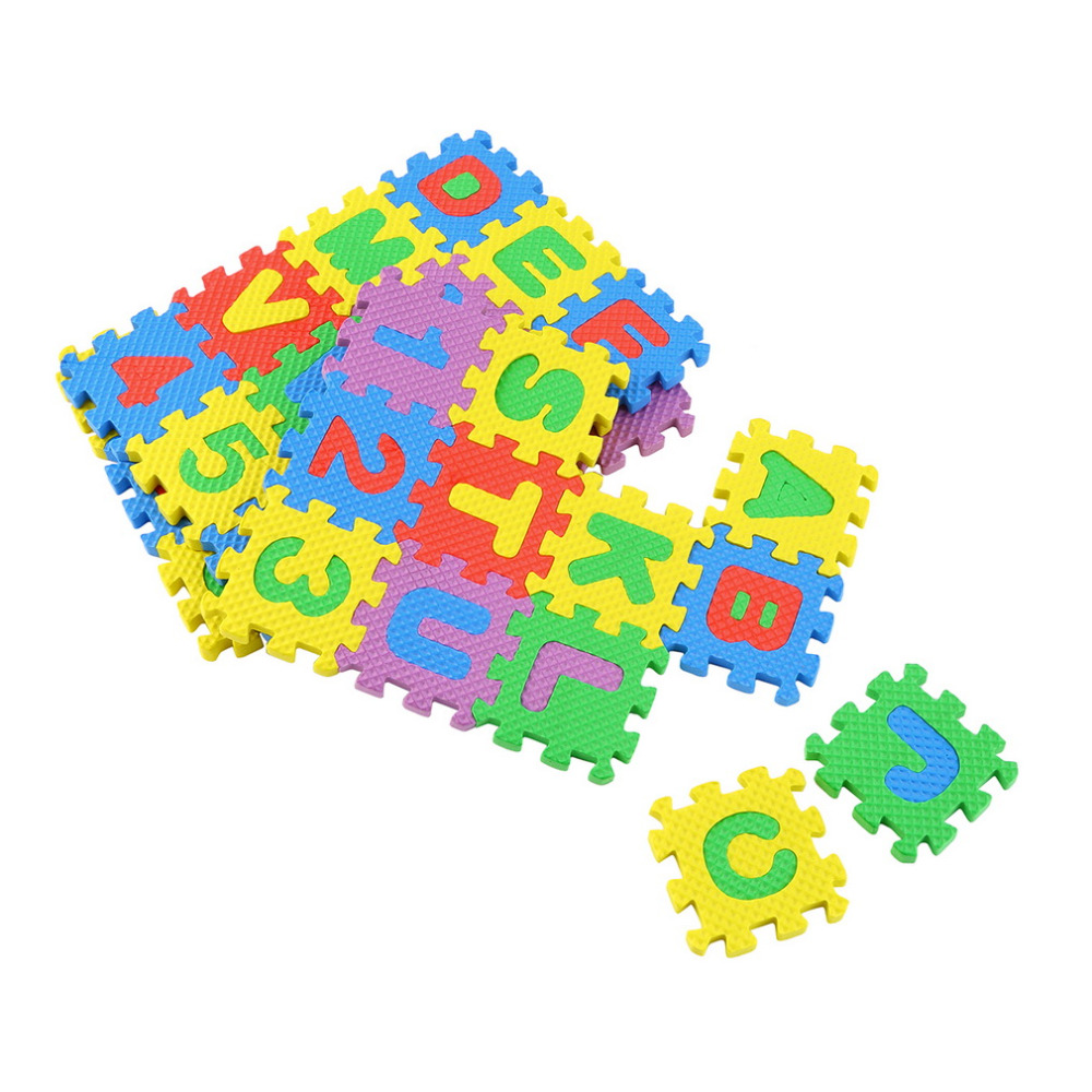 Colorful Puzzle Kid Educational Toy A Z Alphabet Letters Numeral Foam ...
