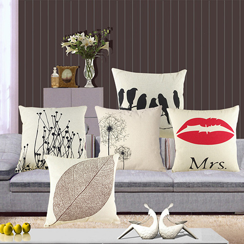 New Design Vintage Cotton Leaf Animal Linen Pillow Case Sofa Throw Cushion Cover Home Decor BIT9(China (Mainland))