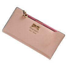 High Quality Mimco Lady Women Wallets Bags Bowknot Leather Wallet Women Coin Purse Card Holders Handbags