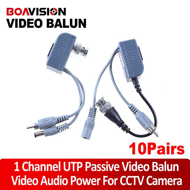 CCTV UTP Balun RJ45 video power Transceiver/Twisted Pair passive video balun Transmitter 10 pairs/lot(China (Mainland))