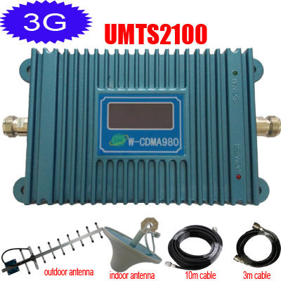 3G Repeater UMTS Signal Booster W-CDMA 2100 Mobile Phone Repeater 3G WCDMA Signal Amplifier 2100mhz Repetidor(China (Mainland))