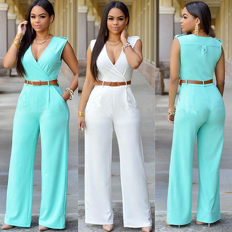 Images of All White Pants Jumpsuit - Reikian