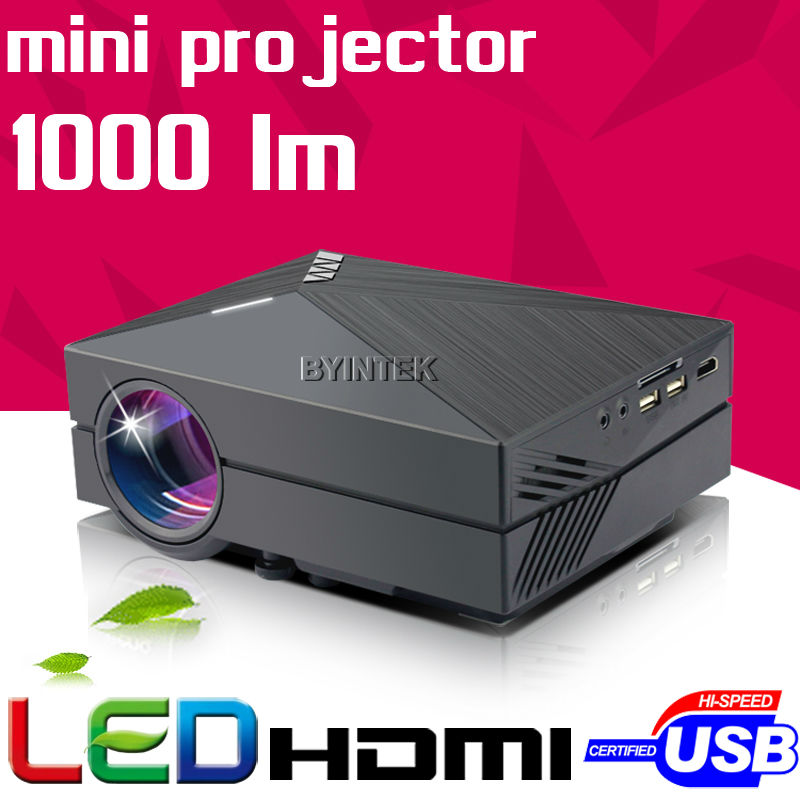 2016 New Home Theater HD 1080P portable Video LCD Digital HDMI Cinema USB 1000lumens mini LED Projector Proyector Beamer(China (Mainland))