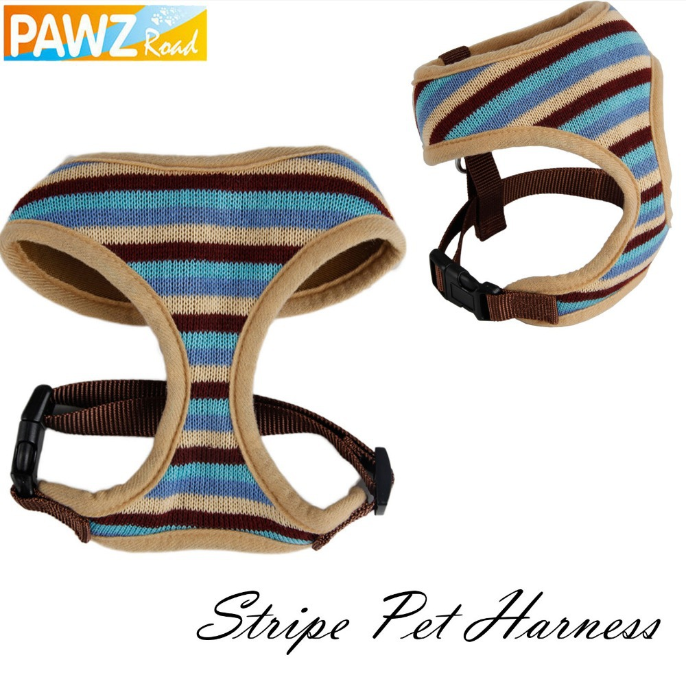 Pet Harness Beige Color Strips Safety Collar Adjustable Harness for Dog Cat Control Leash Size S&M Freeshipping Pet Product(China (Mainland))