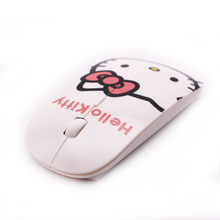 Computer Mouse Ultra Thin Hello Kitty KT Wireless Mouse 1200DPI Pro Game Mice Gift(China (Mainland))