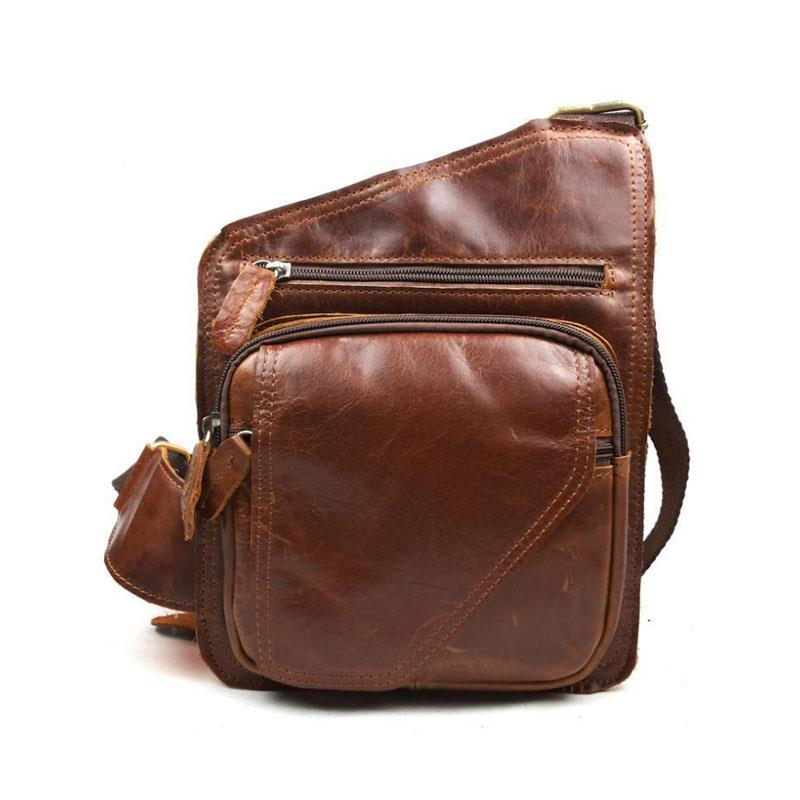 Fashion Genuine Leather Men's Messenger Bags Man Portfolio Office Bag Quality